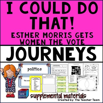 I Could Do That! Journeys 4th Grade Unit 5 Lesson 22 Activities and Printables