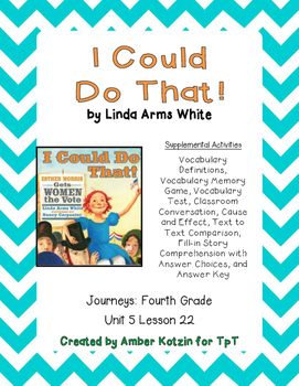 I Could Do That! Supplemental Activities 4th Grade Journey