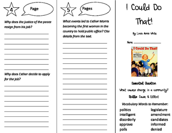 I Could Do That Trifold - Journeys 4th Grade Unit 5 Week 2 (2011)