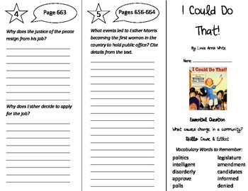 I Could Do That Trifold - Journeys 4th Grade Unit 5 Week 2 (2014, 2017)