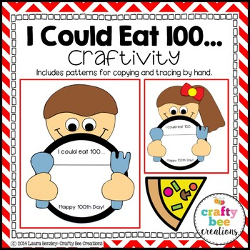 100th Day of School Craft {I Could Eat 100...}