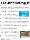 I Couldn't Believe It (Lit) Text & Question Set - FSA/PARCC-Style ELA Assessment