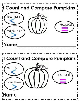 I Count and Compare Pumpkins