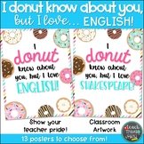 I DONUT know about you, but I love... ENGLISH!
