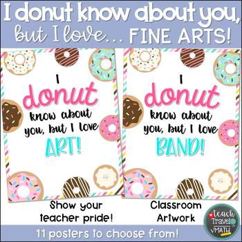 I DONUT know about you, but I love... FINE ARTS!