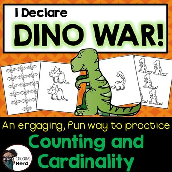I Declare Dino War! A card game to compare number sets 0 - 20 (FREEBIE!)