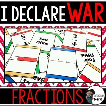 I Declare Fraction War: Compare fractions in different representations