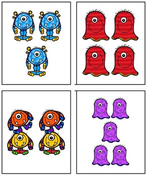 I Declare Monster War! A card game to compare number sets 0 - 20