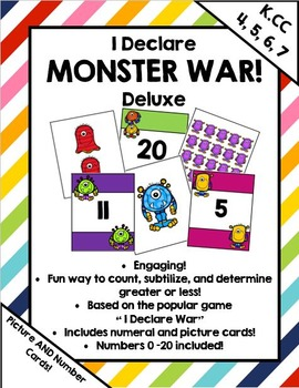 I Declare Monster War Deluxe ! A card game to compare numb