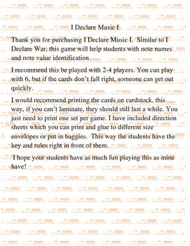 I Declare Music I, II, & III Game