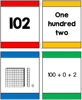 I Declare War! Place value  card game for 3 digit numbers