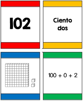I Declare War! Place Value Game (3 digit numbers) (Spanish)