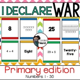I Declare War! (Primary) Place value card game for numbers