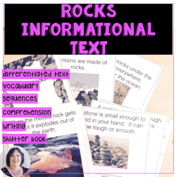 I Dig Rocks Informational Text for Differentiated Learning and Special Education