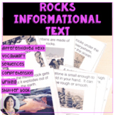 Rocks Informational Text for Differentiated Learning Speec
