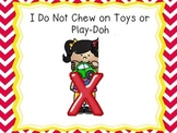 I Do Not Chew on Toys or Eat Dough Social Stories