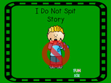 I Do Not Spit Social Story