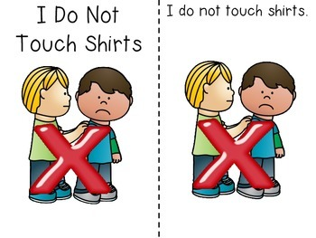 I Do Not Touch Shirts Social Story Freebie