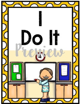 I Do, We Do, You Do Modeling Strategy Poster Set
