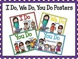 I Do, We Do, You Do Gradual Release Posters