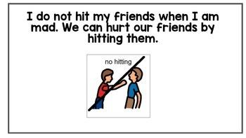 I Don't Hit: A Social Story
