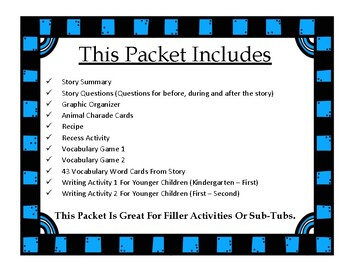 I Don't Want To Be A Frog : Activity Packet