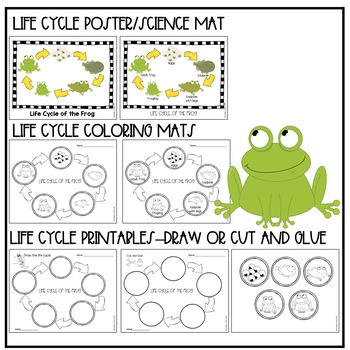 I Don't Want to be a Frog Book Companion Frog Life Cycle