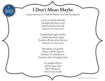 Testing Song Lyrics for Call Me Maybe