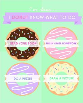 I Donut Know What To Do Now Poster