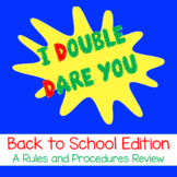 I Double Dare You: Editable Back to School Procedure Review