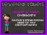 I Dream of Neon CHALKBOARD Leveled Letter Labels (Fountas