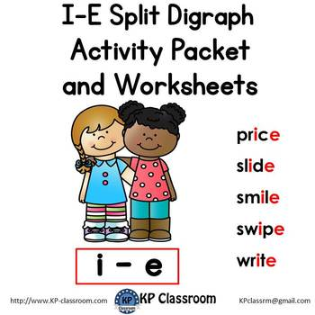 I E Split Digraph Activity Packet And Worksheets By Kp Classroom