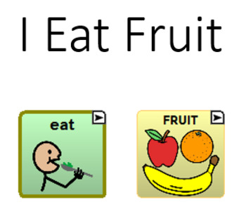 I Eat Fruit - aac navigation book