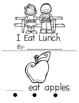 """""""I Eat Lunch"""" Build-a-Book Sight Word Reader"""