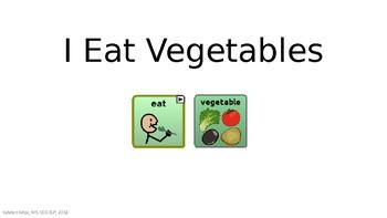 I Eat Vegetables - AAC Navigation Book