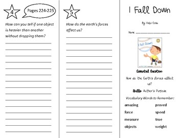 I Fall Down Trifold - Wonders 2nd Grade Unit 3 Week 1