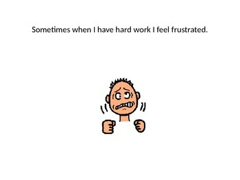 I Feel Frustrated Social Story