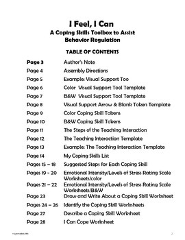 I Feel, I Can: A Coping Skills Toolbox to Assist Behavior Regulation