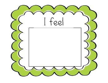 I Feel Template and Emotion Picture Cards
