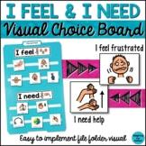 Behavior Management: I Feel & I Need Visual Aid File Folder (Special Education)