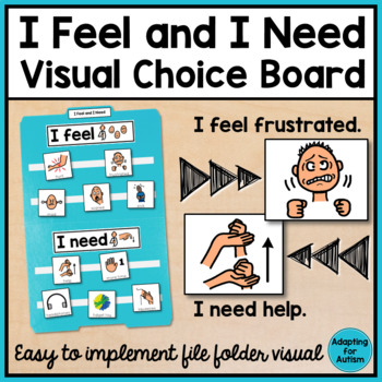 Behavior Management: I Feel I Need Visual Aid File Folder for Special Education