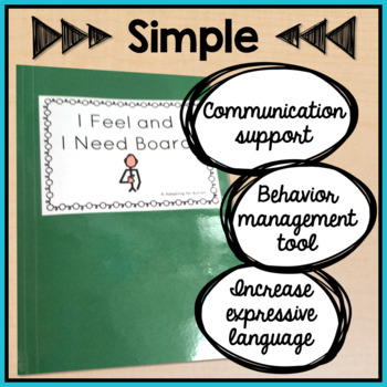 Behavior Management: I Feel I Need Visual Aid File Folder for Special Education