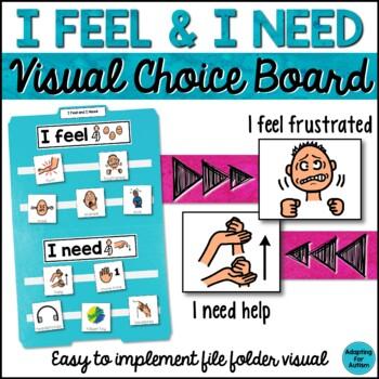 Behavior Management: I Feel & I Need Visual Aid File Folde