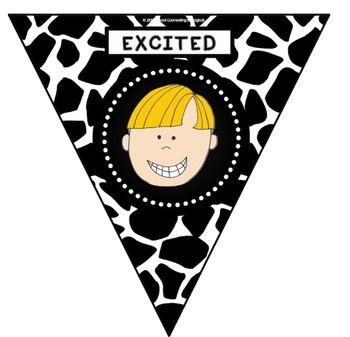 I Feel...Bunting (Black and White Giraffe Print)