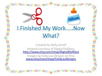 I Finished My Work....Now What?