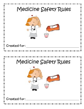I Follow Medicine Safety Rules Booklet