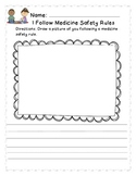 I Follow Medicine Safety Rules    Red Ribbon Week
