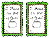 I Found the Pot of Gold! - Interactive Small Booklet