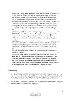 I / GCSE English Literature Component 2: Drama Mock Exam 'An Inspector Calls'