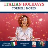 I Giorni Festivi  Cornell Note Sheet